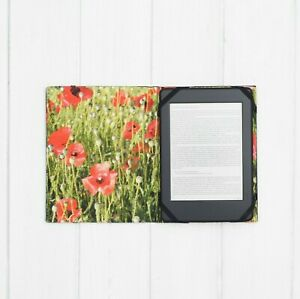 Poppy Pattern Cases Covers PocketBook InkPad Color Touch Lux 3 4 5 Pro Basic