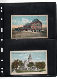 Postcards 4 Missouri scenes---old---unposted