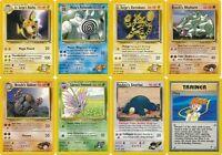 Pokemon Gym Heroes rare cards Raichu Golem Electabuzz Snorlax Misty etc CHOOSE