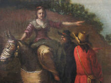 NICOLAES BERCHEM Antique Old Master Dutch Original Oil/Canvas Painting Signed.