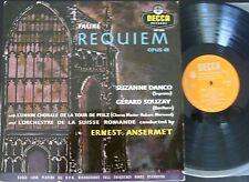 ANSERMET - DANCO - SOUZAY / FAURE requiem / DECCA LXT 5158