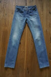 Womens ACNE studios Hepp Riss denim jeans 27/32 S straight fit casual light blue