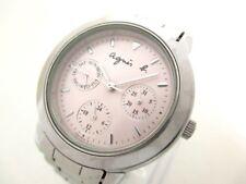 Auth agnes b V33J-0010 Pink Silver 451389 Women's Wrist Watch