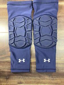 NWT Under Armour HeatGear Men's Padded Knee Leg Sleeves (2) Basketball Small