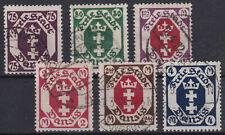 Satz Danzig Briefmarken Mi-Nr. 93 - 98 gestempelt, ungeprüft