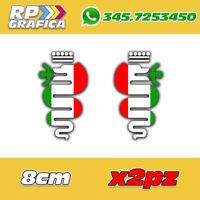 KIT 2 ADESIVI ALFA ROMEO ITALIA sticker fiancata LOGO AUTO 156 147 159 MITO