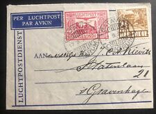 1934 Batavia Netherlands Indies Airmail Cover To The Hage Holland