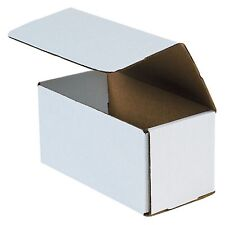 50- 8x4x4 White Corrugated Carton Cardboard Packaging Shipping Mailing Box Boxes
