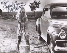 JOY HARMON HAND SIGNED 8x10 PHOTO+COA    SEXY COOL HAND LUKE CAR WASH     TO BOB