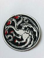 Game Of Thrones House Targaryen Silver Embroidered Iron On Sew On Patch Badge
