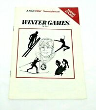 Winter Games (Atari 7800, 1987) By Atari (manual only) NTSC