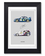 COLIN MCRAE SIGNED POSTER PRINT PHOTO AUTOGRAPH GIFT WRC RALLY LEGEND SUBARU