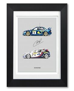 COLIN MCRAE SIGNED POSTER PRINT PHOTO AUTOGRAPH GIFT WRC RALLY LEGEND SUBARU