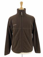 Columbia Men's Casual Outdoor Soft Fleece Full Zip Jacket Solid Brown Size M
