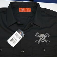 NEW NWT DICKIES SKULL & PISTONS CROSSBONES GARAGE MECHANIC RACING WORK SHIRT XXL