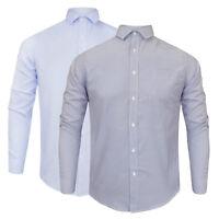 Men's Process Black By Brave Soul Smart/Casual Long Sleeve Pin Stipe Shirt NEW