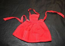 Barbie Mattel What's Cookin' Red Apron 1960's Vintage Doll Clothes Cooking