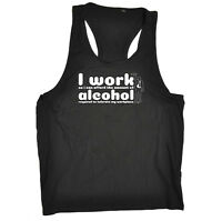 Funny Novelty Mens Vest Singlet Tank Top - I Work So I Can Afford The Amount Of