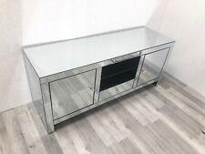 Venetian Mirrored TV Media Unit Stand Contemporary Modern Mirror Furniture