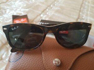 RAY-BAN NEW WAYFARER Sunglasses Tortoise RB 2132 52/18 étui et chamoisine R-ban