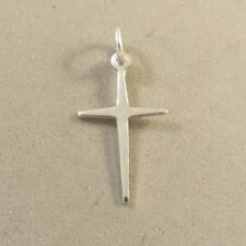 ".925 Sterling Silver Thin Light 3/4"" BASIC CROSS NEW Small Cross 925 CR43"