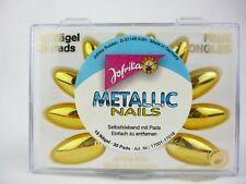 Jofrika 17011 künstliche Fingernägel Metallic Nails gold