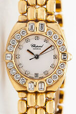 Estate $30,000 2ct VS F Diamond FANCY CUT CHOPARD MOP 18k Gold Ladies Watch