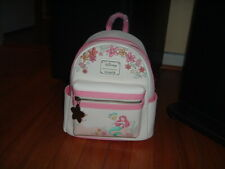 LOUNGEFLY DISNEY LITTLE MERMAID ARIEL FLORAL MINI BACKPACK~ WITH TAGS~BRAND NEW~