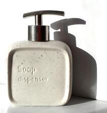 White Stone Effect Ceramic Engraved Soap Dispenser