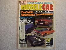 Muscle Car Review 1988 May 1970 King Cobra Torino 1965 SS 396 Impala 1971 Fury