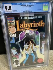 LABYRINTH #1 movie adaptation David Bowie White pages CGC 9.8 1986 MINT