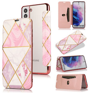 Clear Back Leather Flip Case Silicone Cover Wallet for Samsung S20 FE A12 S21 5G