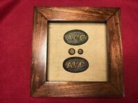 CIVIL WAR CONFEDERATE ALABAMA CARTRIDGE BOX PLATES ( ACC & AVC PLATES)