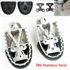 Forged Retro Motorcycle Off-road Stainless Steel  Foot Pegs Forefoot Pedals 8MM