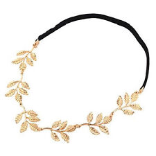 4hb (1 pc) Gold Plt Leaf Vine Stretch Head Band Hair Band Headband