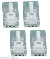4 X NEW MODULAR 8/8 RJ45 NETWORK PLUG, USE WITH 24 AWG