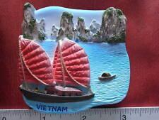 Halong Bay Vietnam Junk Sailing Ship Boat Refrigerator 3D Fridge Magnet