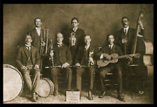 "1909 JAZZ BAND photo Peerless Orchestra NEW ORLEANS BIG, 16""x11"" print"