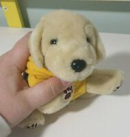 KAYA GUIDE DOGS PLUSH TOY SOFT TOY PROMOTIONAL KLEENEX DOG YELLOW JACKET 17CM !