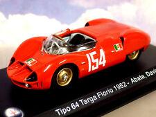"""NICE 1/43 DIECAST MASERATI TIPO 64 """"BIRDCAGE"""" #154 TARGA FLORIO 1962 ABATE/DAVIS"""