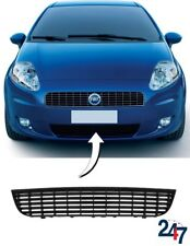 FRONT BUMPER LOWER CENTER BLACK GRILLE COMPATIBLE WITH FIAT GRANDE PUNTO 05-12