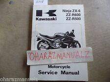 1990 1991 1992 1993 KAWASAKI NINJA ZX-6 ZZ-R600 ZZ-R500 Service Manual OEM