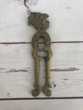 Vintage-- Brass - Decorative Rooster -Chicken- Bird Nutcracker Utensil Old