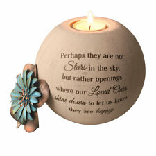 Stars in the Sky Memorial Tea Light Candle Holder - Round Globe - Sympathy Gift