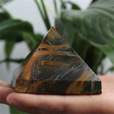 290g FREE SHIPPING! Natural Healing Tiger-eye Quartz Crystal Pyramid