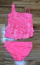 12 Geo Triple Ruffle 2-Pc MAMBO Girls/' 7 8 Bikini NWT $36