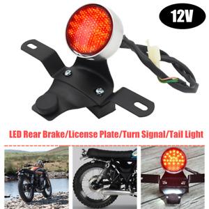 12V LED Motorcycle Tail Light Rear Brake License Plate Turn Signal Running Light