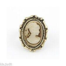 Bellissimo anello ovale vintage regolabile con Cameo  Lolita - Bronzo