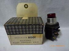 Allen-Bradley 800T-PB16R Oiltight Pilot Light Control Unit Red 120V/60Hz 110V/50