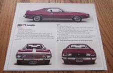 ★★1974 AMC JAVELIN AMX ART POSTER ADVERTISEMENT AD 74 401 AMERICAN MOTORS PURPLE